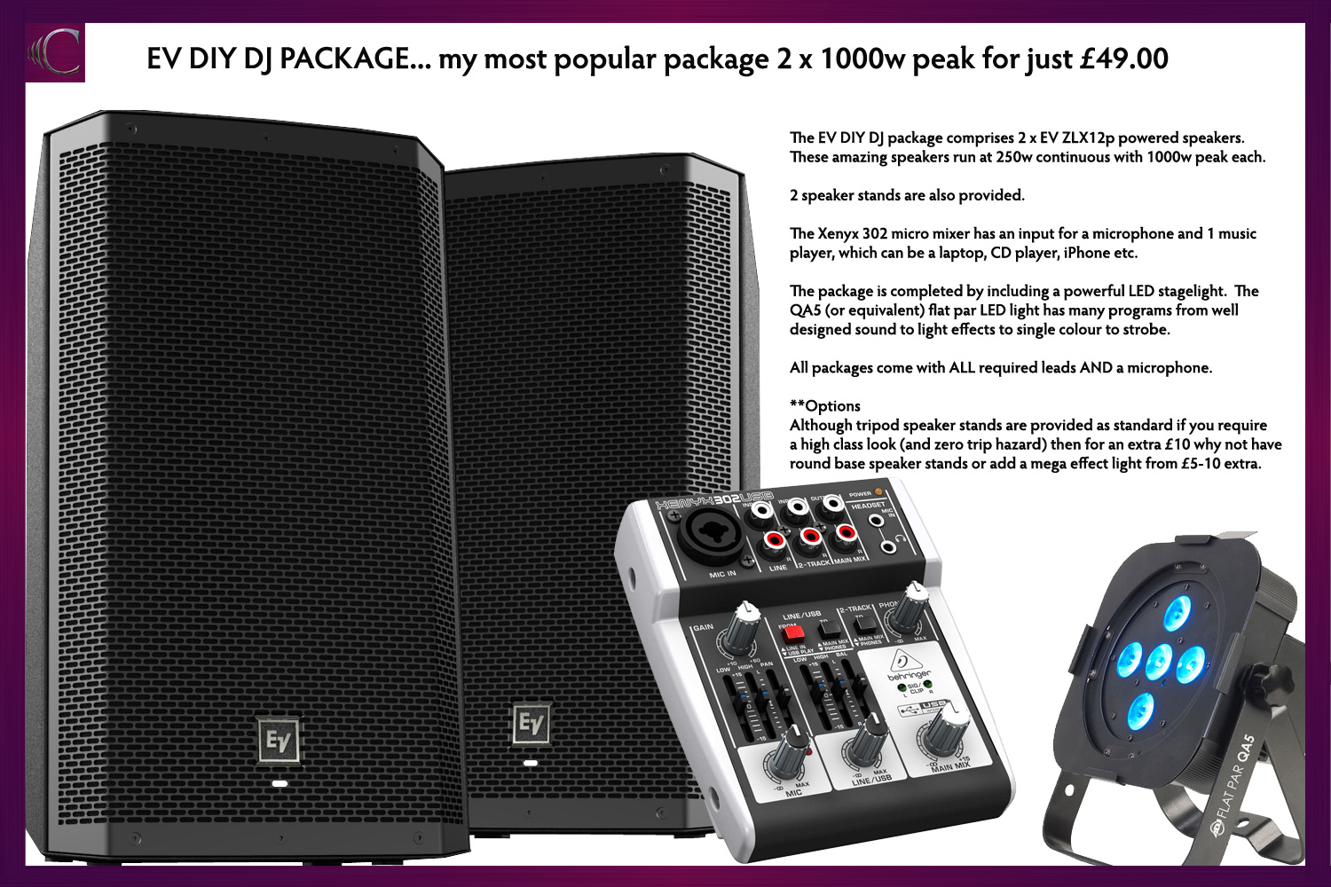 Pa Amp Disco Equipment Hire In Kent London Amp Se Clive